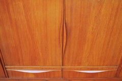 Danish Quality Teak Taller Credenza with Flared Pulls by Lyby Mobler, 1960s