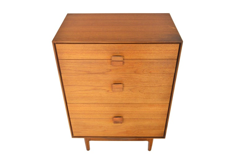 Mid-Century Modern Danish Range Teak Highboy Dresser by Ib Kofod Larsen for G Plan For Sale