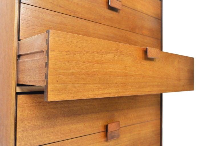Lacquered Danish Range Teak Highboy Dresser by Ib Kofod Larsen for G Plan For Sale