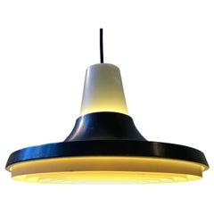 Danish Raw Aluminium Pendant Lamp from Nordisk Solar, 1960s