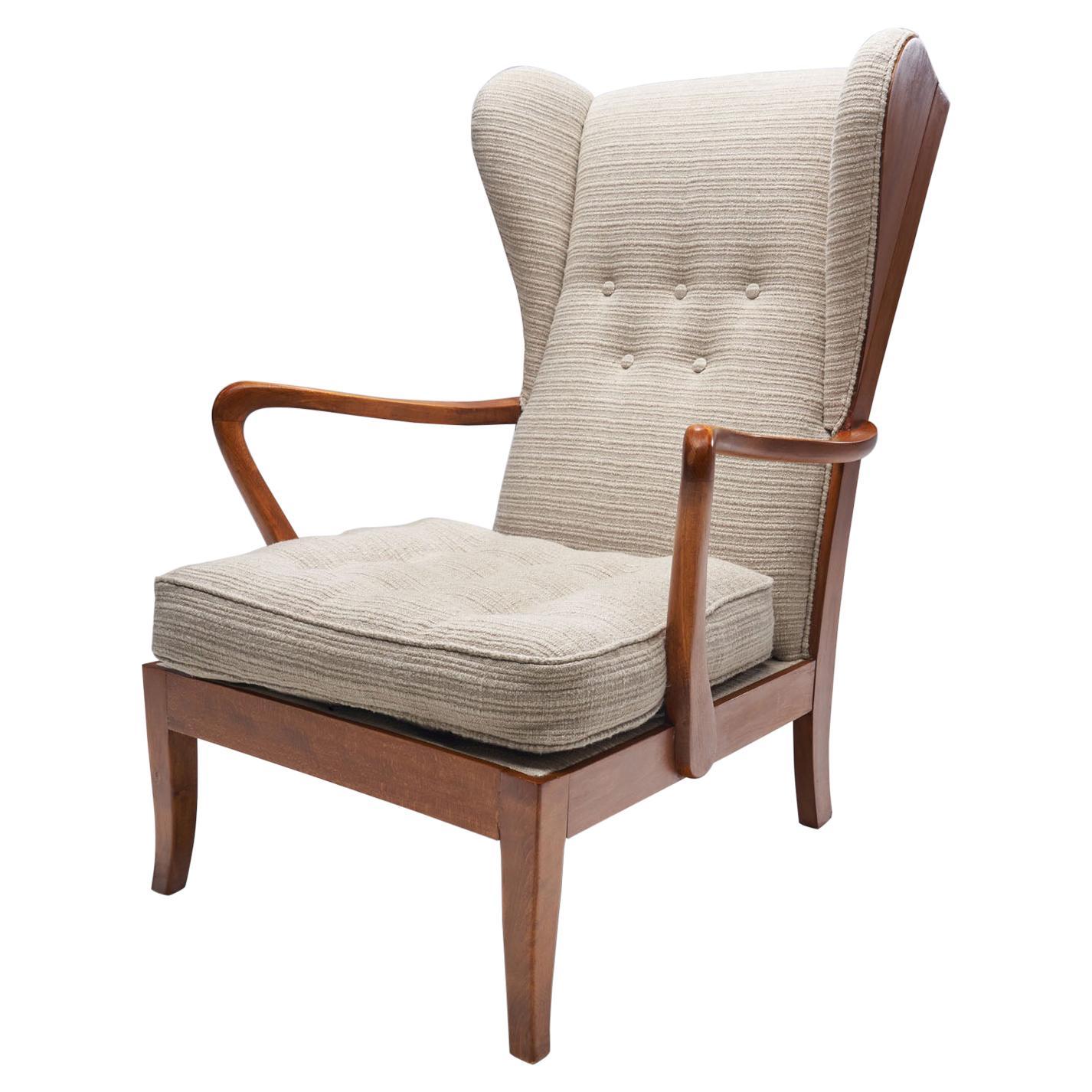 Danish Øreklapstolen Chair, Denmark, 1950s