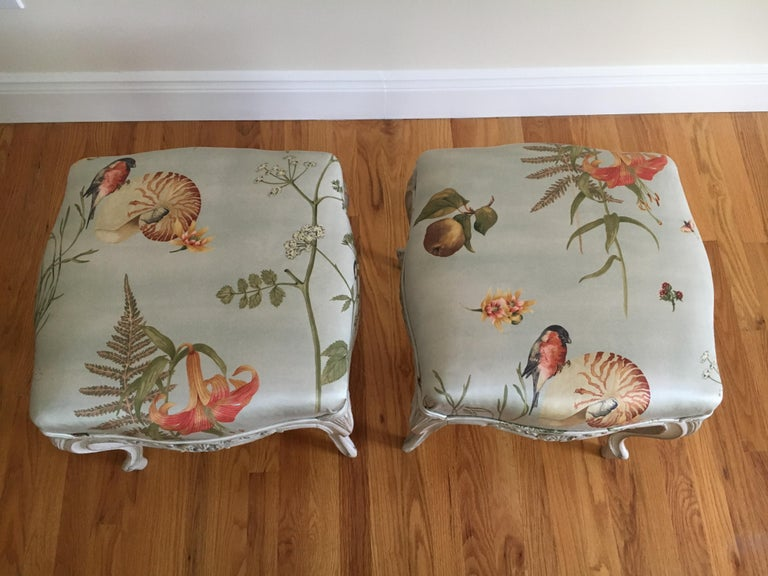 Danish Rococo Style Tabourets In Good Condition For Sale In Cold Spring, NY