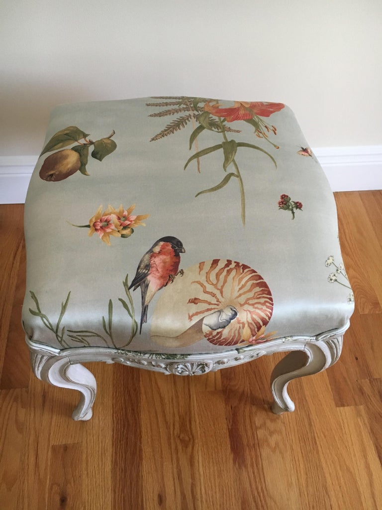 20th Century Danish Rococo Style Tabourets For Sale
