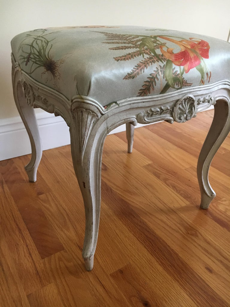 Wood Danish Rococo Style Tabourets For Sale