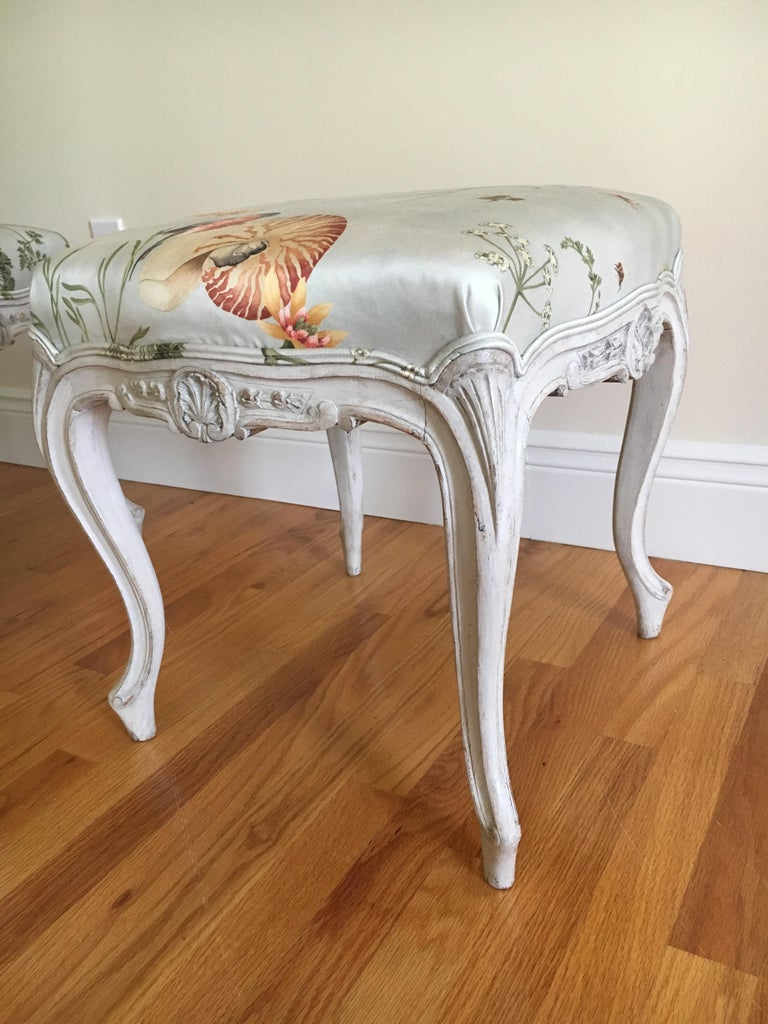Danish Rococo Style Tabourets For Sale 1