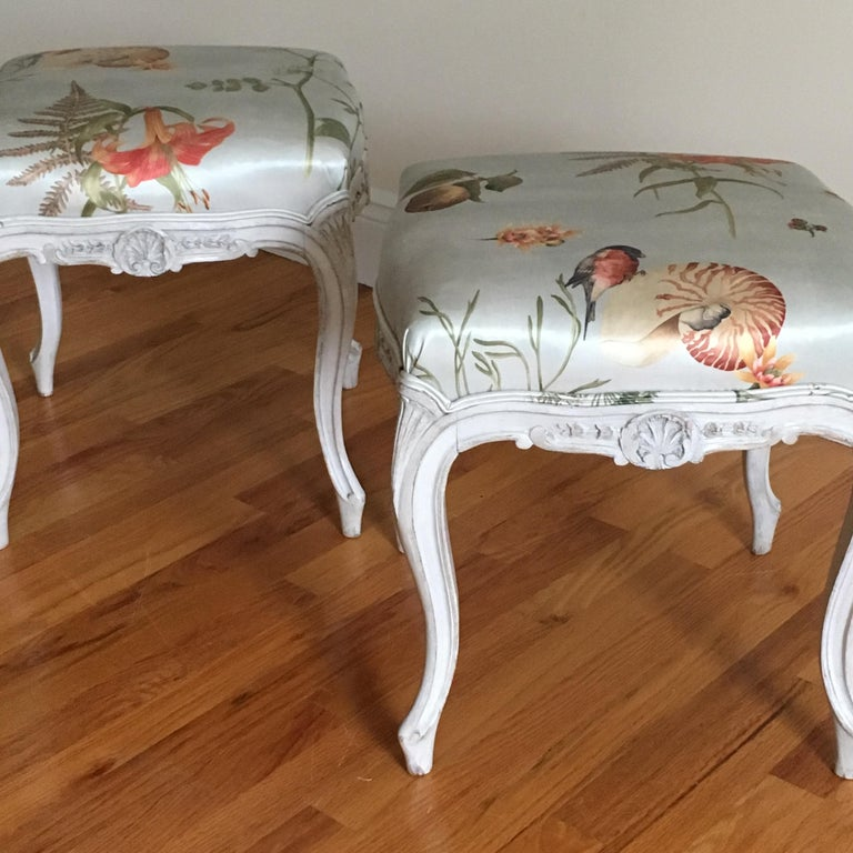 Danish Rococo Style Tabourets For Sale 3