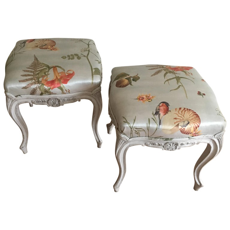 Danish Rococo Style Tabourets For Sale