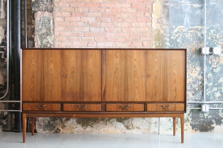Mid-Century Modern Danish Rosewood Credenza after Ole Wanscher, circa 1960s For Sale