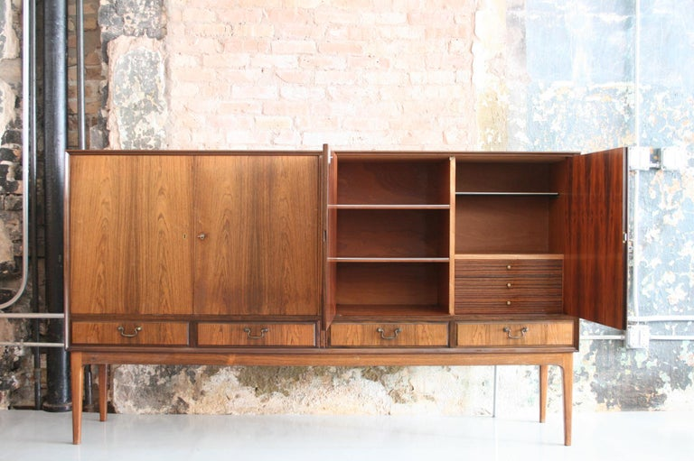 Danish Rosewood Credenza after Ole Wanscher, circa 1960s In Excellent Condition For Sale In Chicago, IL
