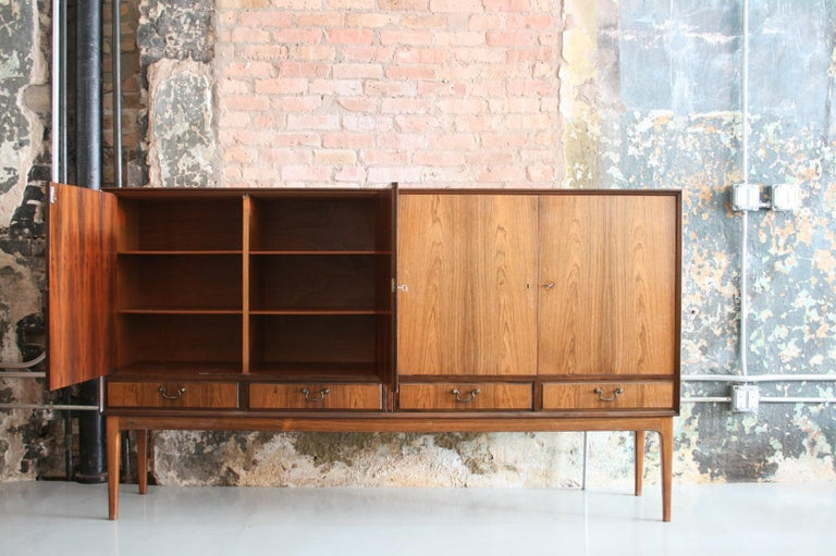 Mid-20th Century Danish Rosewood Credenza after Ole Wanscher, circa 1960s For Sale