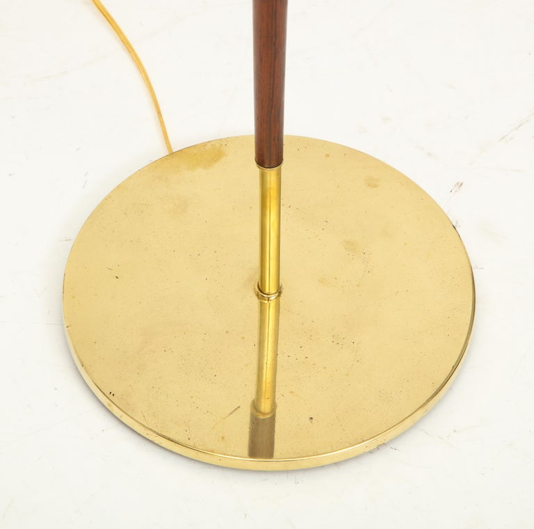 Danish Rosewood and Brass Floor Lamp, circa 1960s For Sale 1