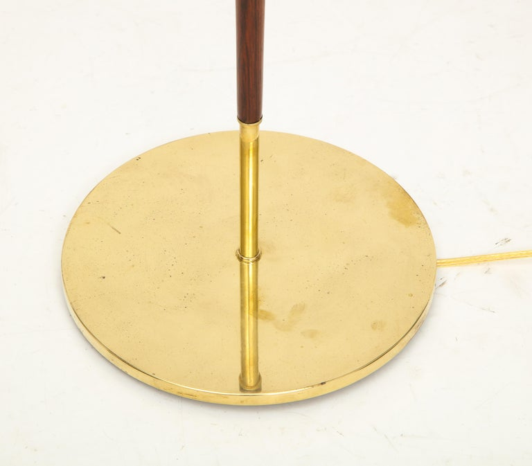 Danish Rosewood and Brass Floor Lamp, circa 1960s For Sale 2
