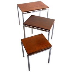 Danish Rosewood and Chrome Nesting Tables