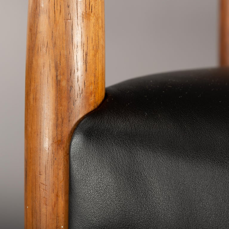 Palisander Danish Rosewood and Leather Chairs by Kurt Olsen, Set of Two  For Sale