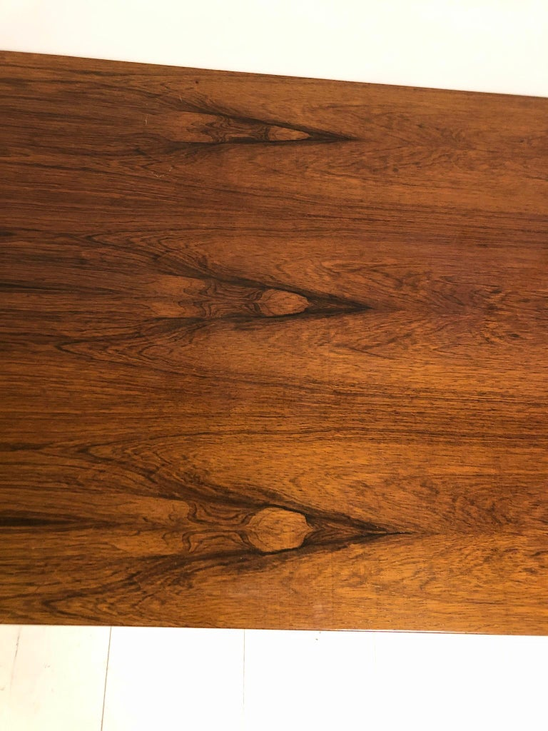 Danish Rosewood and Steel Coffee Table For Sale 6