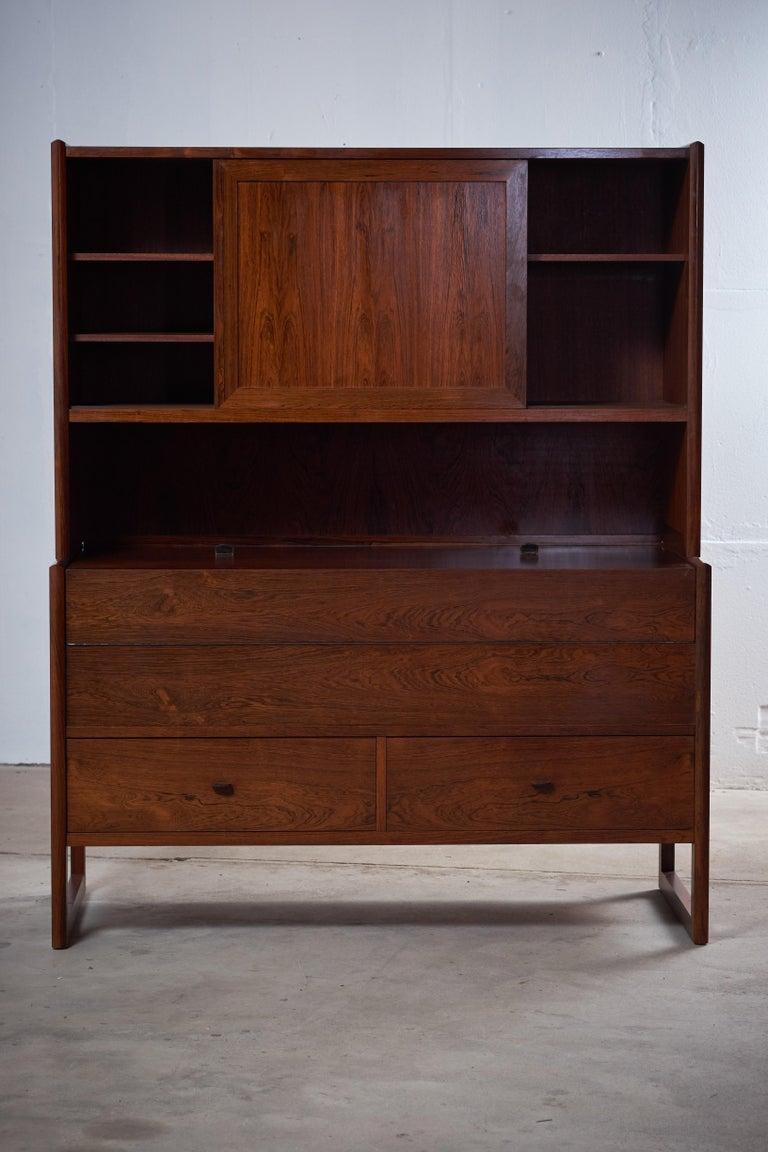 Mid century modern danish rosewood bar cabinet 1960s midcentury for sale