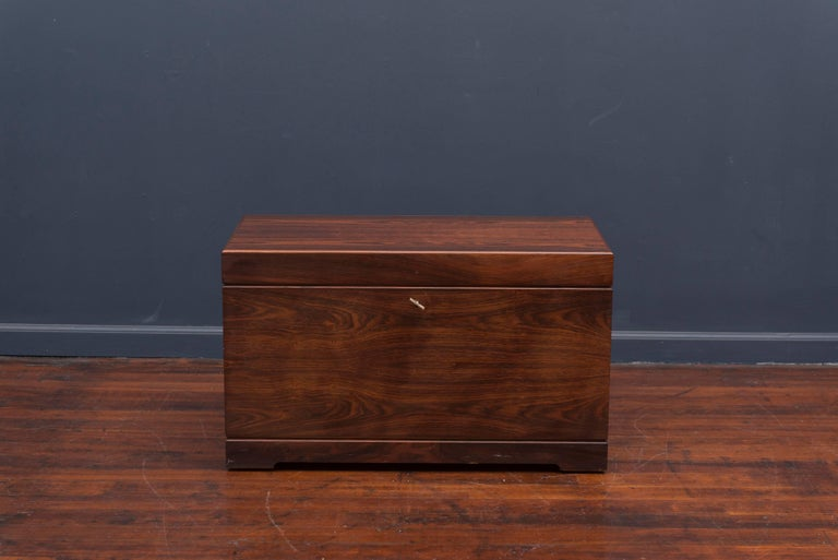 Danish Rosewood Bar Cabinet by Poul Norreklit In Excellent Condition For Sale In San Francisco, CA