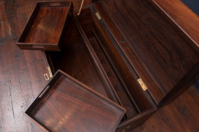 Danish Rosewood Bar Cabinet by Poul Norreklit For Sale 1
