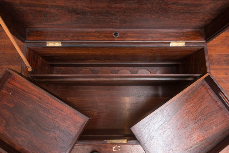 Danish Rosewood Bar Cabinet by Poul Norreklit For Sale 3