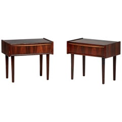 Danish Rosewood Bedside Cabinets, circa 1960