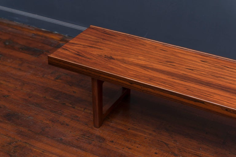 Scandinavian Modern Danish Rosewood Bench or Coffee Table For Sale