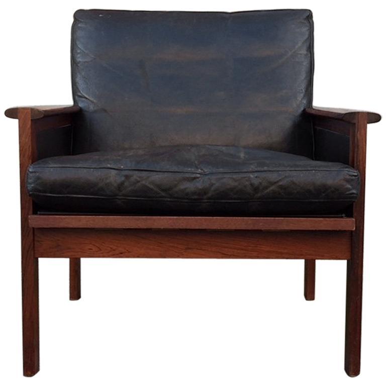 Danish Rosewood Capella Lounge Chair by Illum Wikkelsø for Niels Eilersen, 1960s