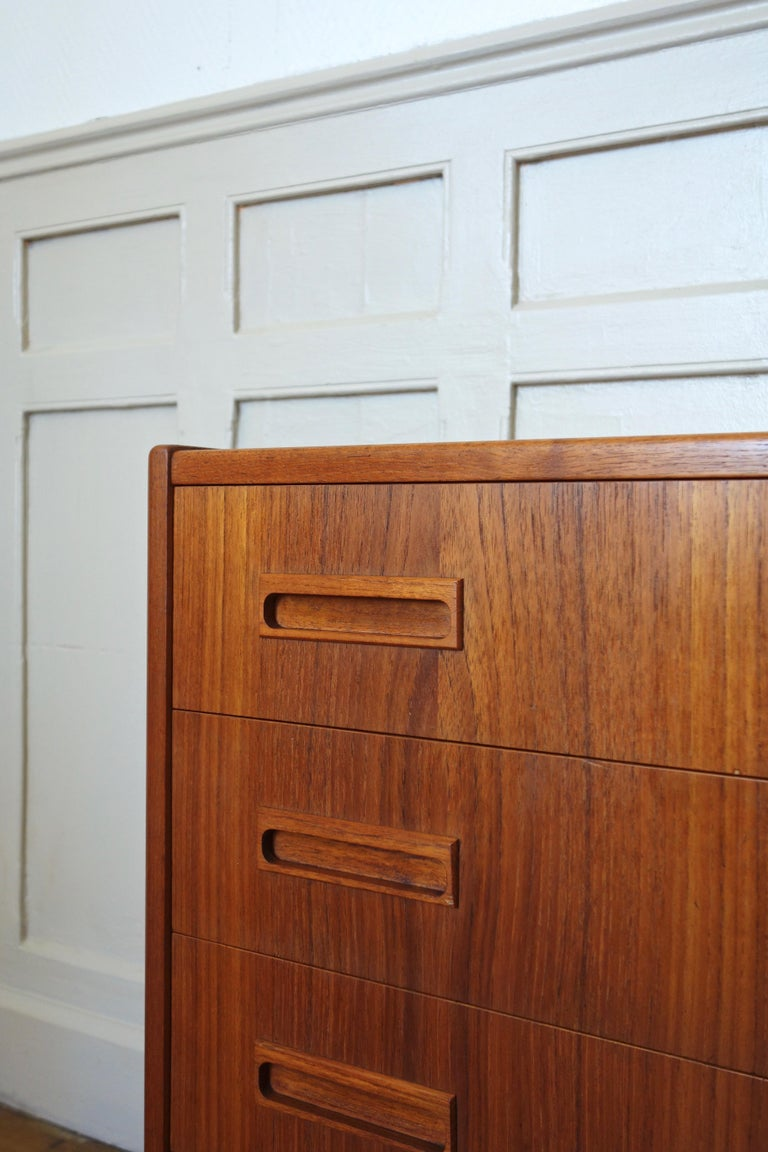Mid-20th Century Danish Rosewood Chest of Drawers by Otto Nielsen, 1960s For Sale