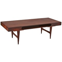 Danish Rosewood Cocktail Table with Cutout Center