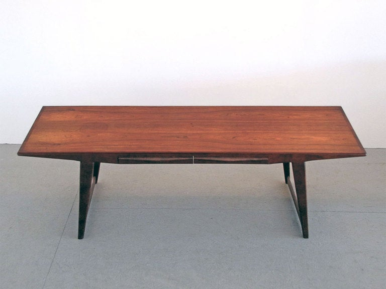 Mid-Century Modern Danish Rosewood Coffee Table, 1950 For Sale