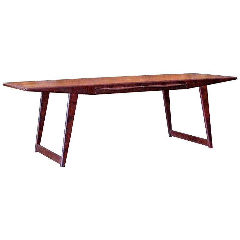 Danish Rosewood Coffee Table, 1950 For Sale