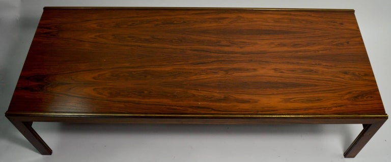 Scandinavian Modern Danish Rosewood Coffee Table by CFC Silkeborg Attributed to Illum Wikkelsø For Sale