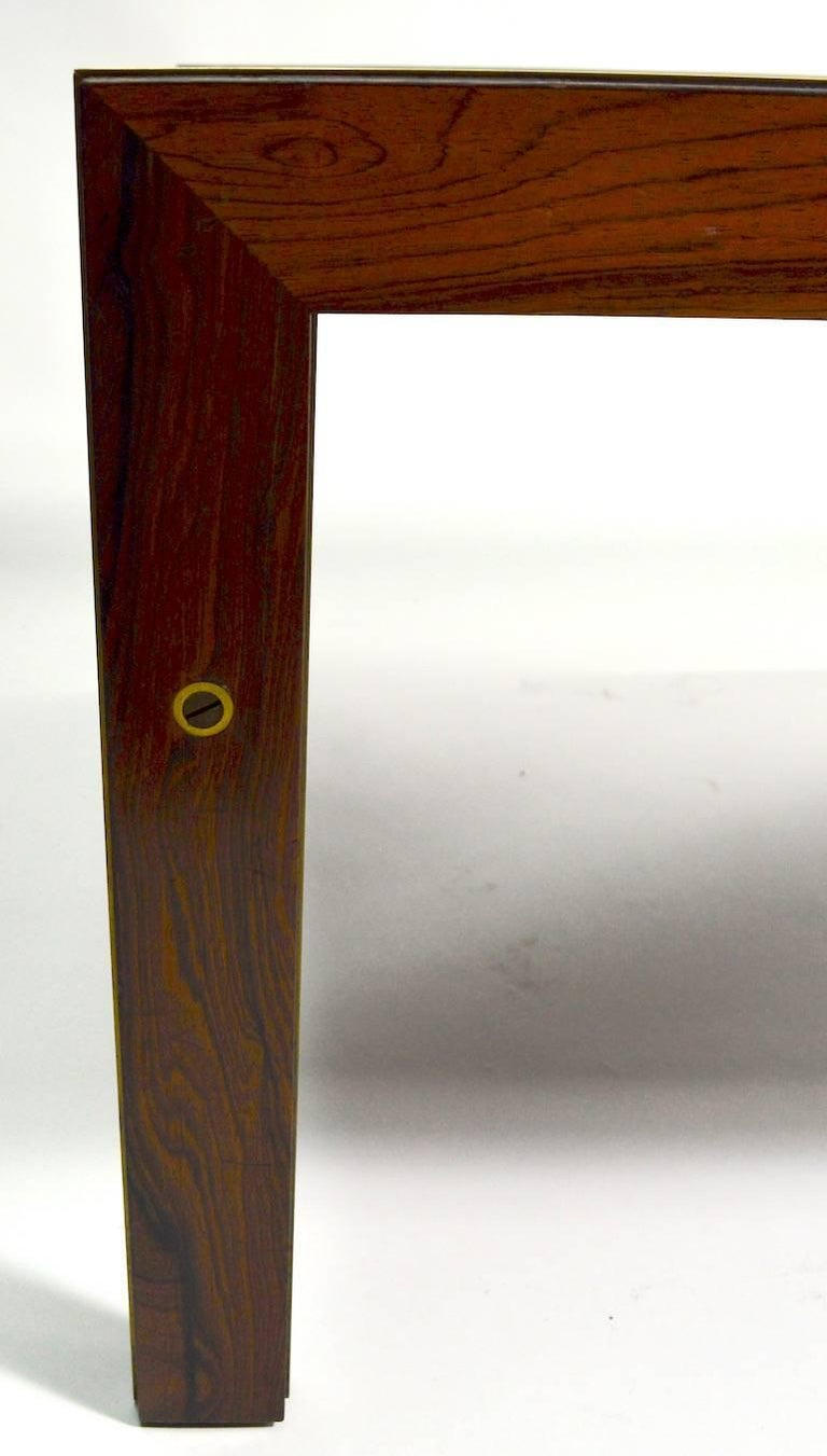 Danish Rosewood Coffee Table by CFC Silkeborg Attributed to Illum Wikkelsø In Good Condition For Sale In New York, NY