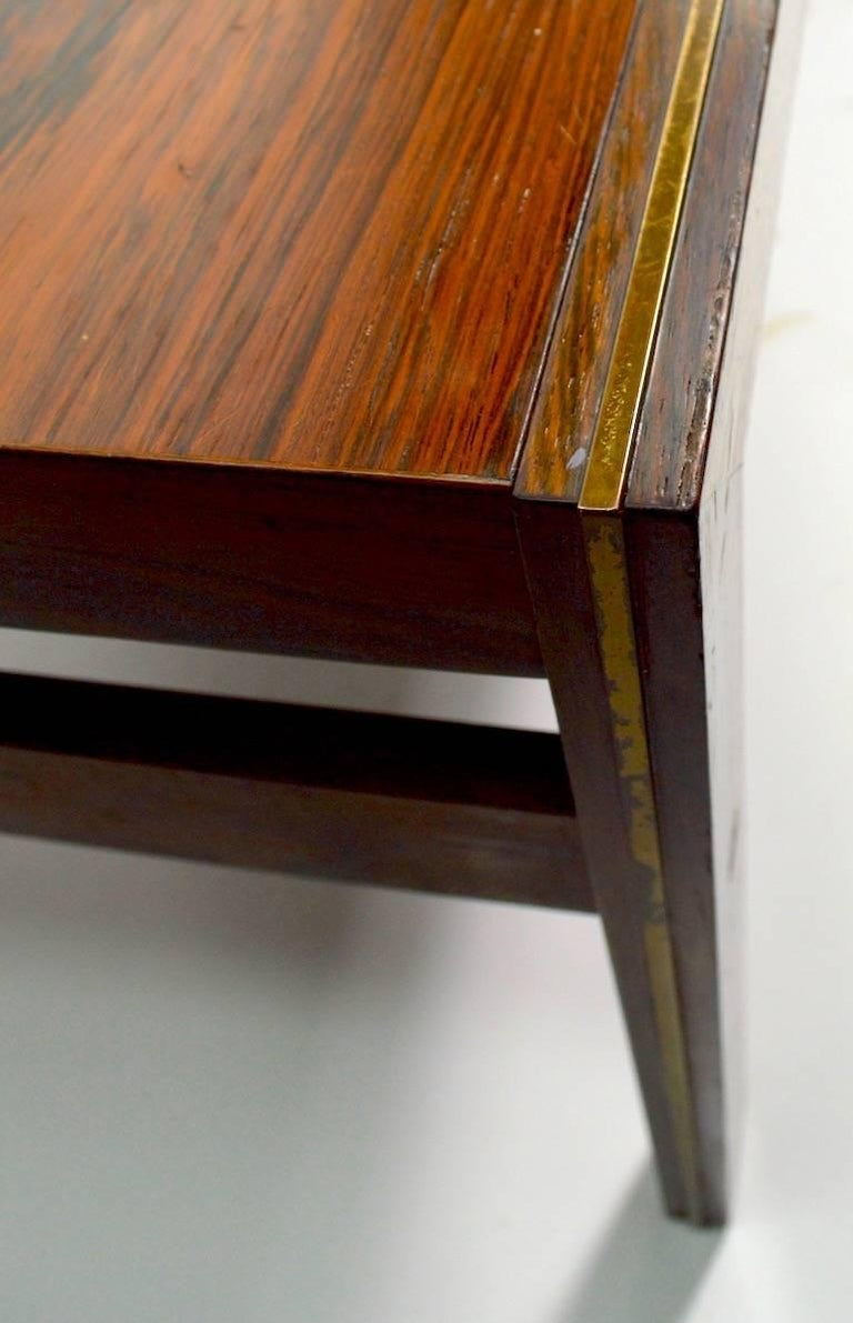 Danish Rosewood Coffee Table by CFC Silkeborg Attributed to Illum Wikkelsø For Sale 1