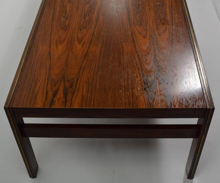 Danish Rosewood Coffee Table by CFC Silkeborg Attributed to Illum Wikkelsø For Sale 3