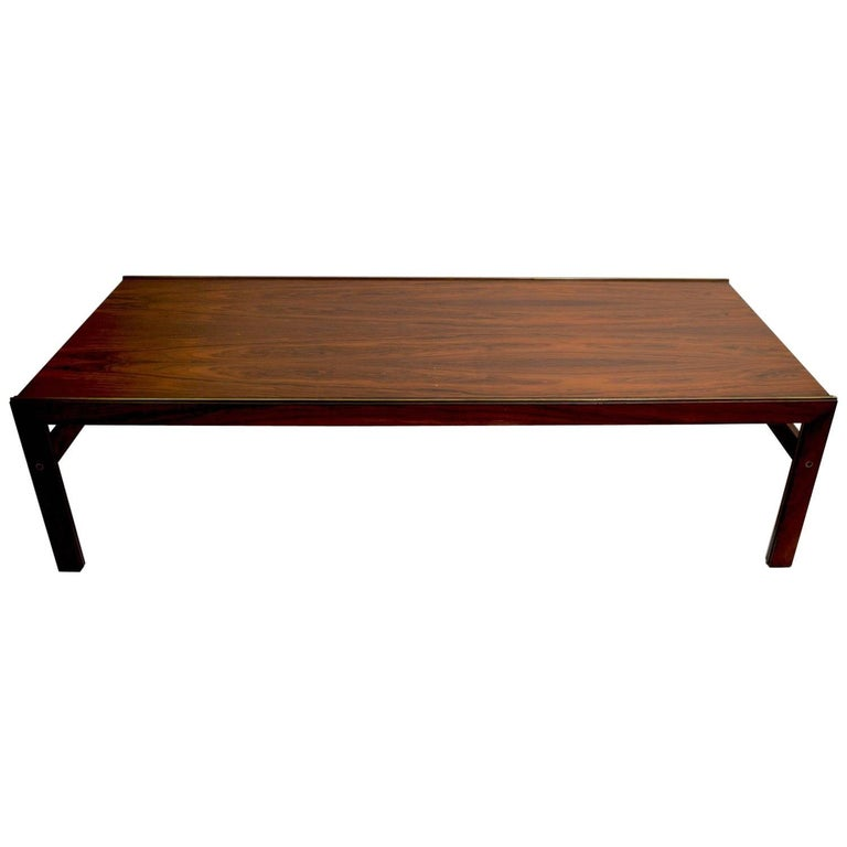 Danish Rosewood Coffee Table by CFC Silkeborg Attributed to Illum Wikkelsø For Sale