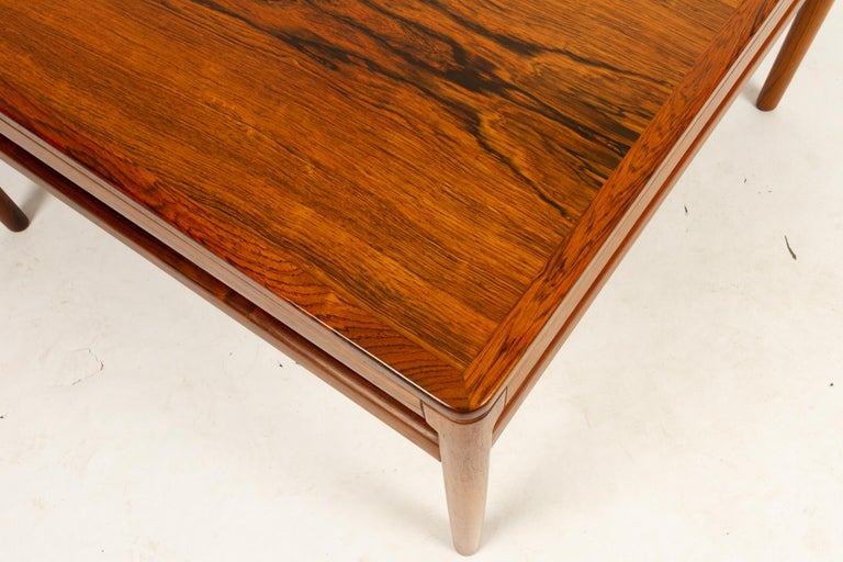 Danish Rosewood Coffee Table by Kurt Østervig, 1960s For Sale 7