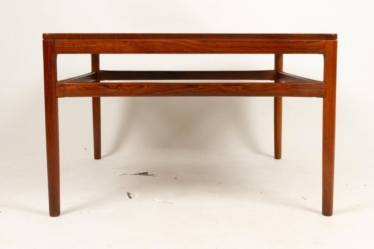 Danish Rosewood Coffee Table by Kurt Østervig, 1960s In Good Condition For Sale In Nibe, Nordjylland