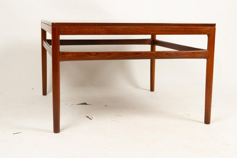 Mid-20th Century Danish Rosewood Coffee Table by Kurt Østervig, 1960s For Sale