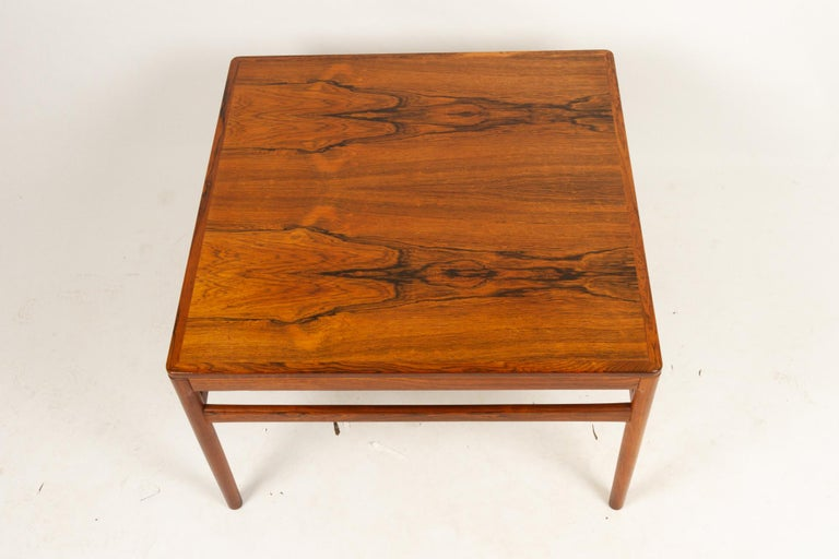 Danish Rosewood Coffee Table by Kurt Østervig, 1960s For Sale 1