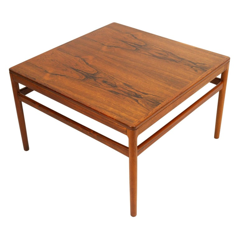 Danish Rosewood Coffee Table by Kurt Østervig, 1960s For Sale