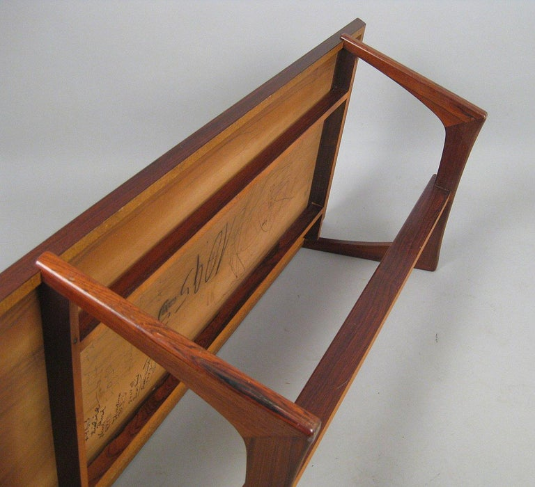 Mid-20th Century Danish Rosewood Coffee Table For Sale