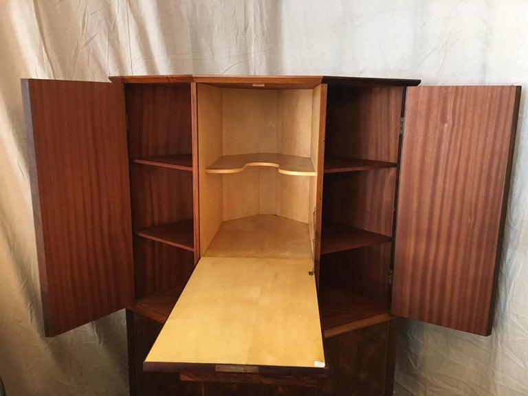 Danish Rosewood Corner Bar Cabinet For Sale 3
