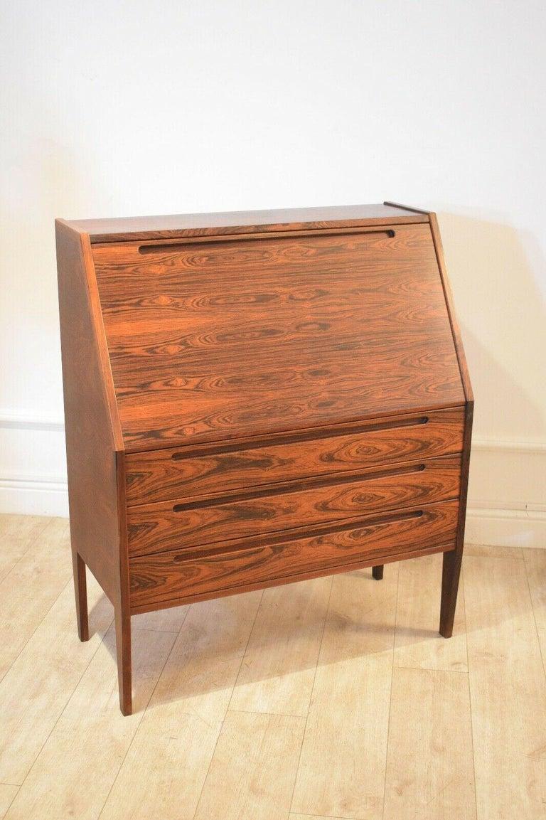 Mid-20th Century Danish Rosewood Desk/ Bureau/ Secretaire by Nils Jonsson for Møbelfabrik, 1960s For Sale