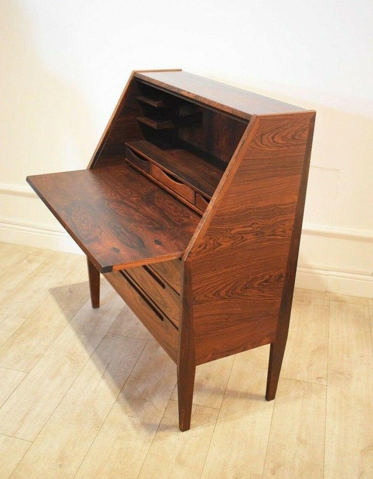 Danish Rosewood Desk/ Bureau/ Secretaire by Nils Jonsson for Møbelfabrik, 1960s For Sale 1