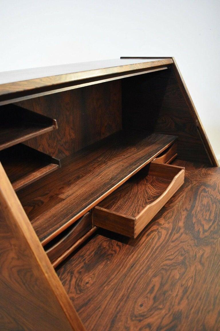 Danish Rosewood Desk/ Bureau/ Secretaire by Nils Jonsson for Møbelfabrik, 1960s For Sale 2