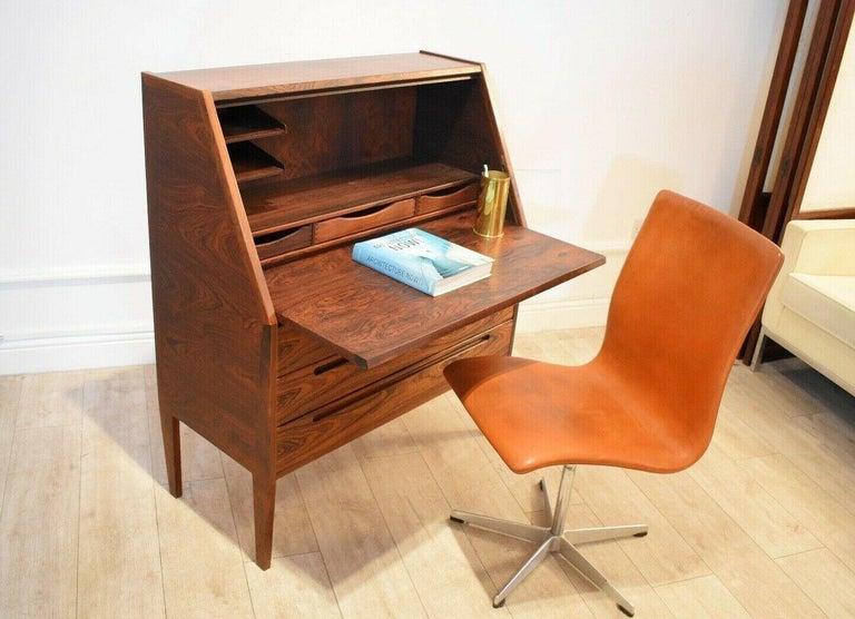 Danish Rosewood Desk/ Bureau/ Secretaire by Nils Jonsson for Møbelfabrik, 1960s For Sale 3