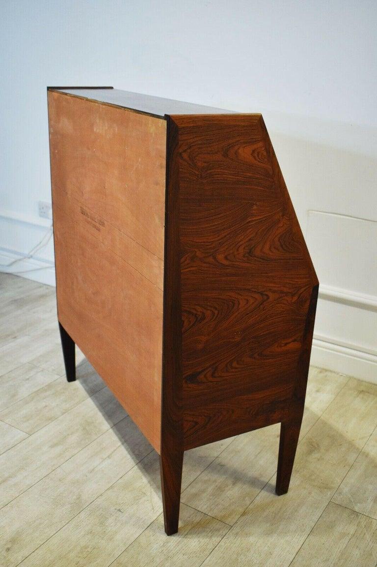 Danish Rosewood Desk/ Bureau/ Secretaire by Nils Jonsson for Møbelfabrik, 1960s For Sale 4