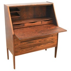 Danish Rosewood Desk/ Bureau/ Secretaire by Nils Jonsson for Møbelfabrik, 1960s