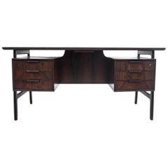Danish Rosewood Desk by Omann Jun Møbelfabrik