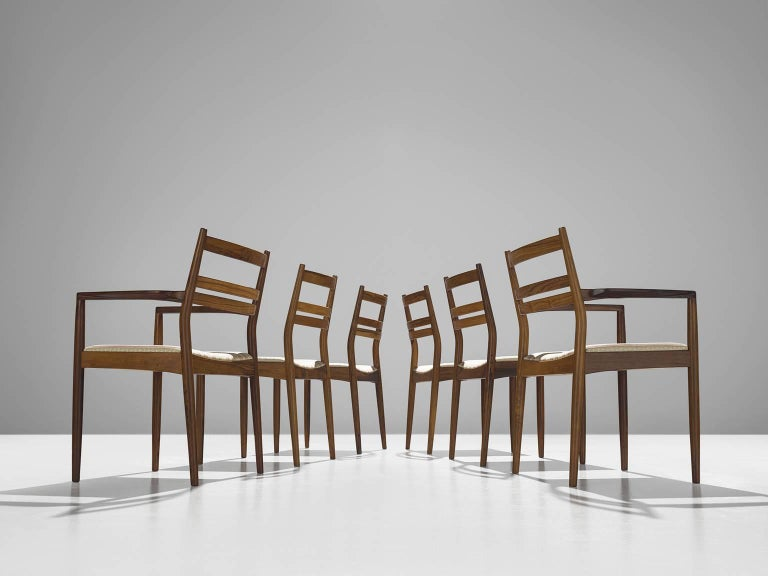 Scandinavian Modern Danish Rosewood Dining Chairs, 1960s For Sale